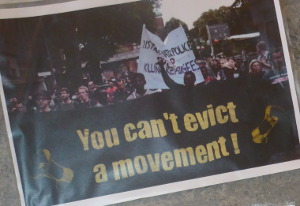 you can't evict a movement
