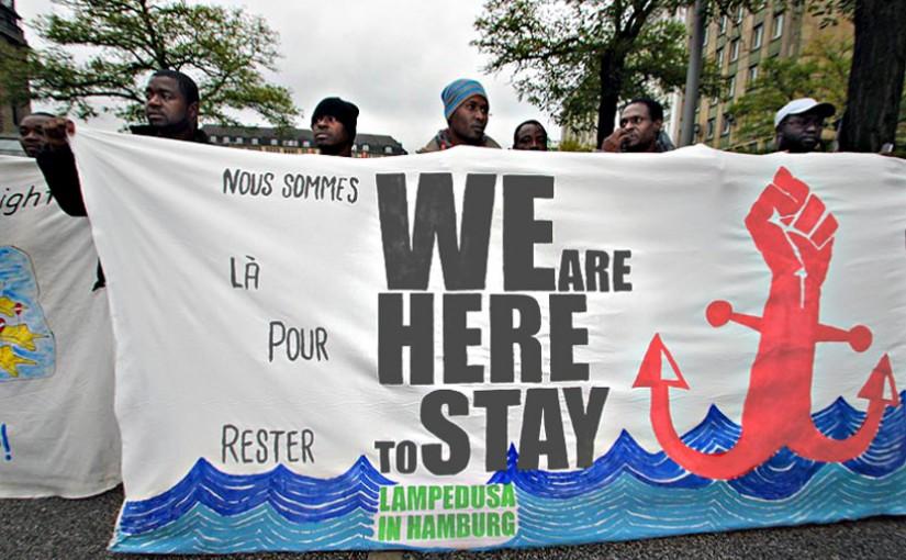 Refugee Protest Hamburg