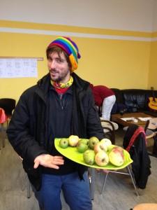 Josh serves Healthy Food