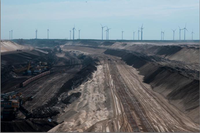 Lignite mining in Cottbus